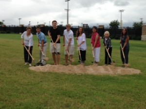Zack's family at the ground breaking.